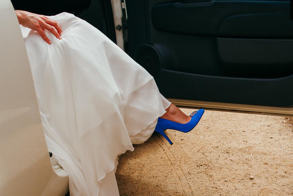blue stiletto wedding shoes