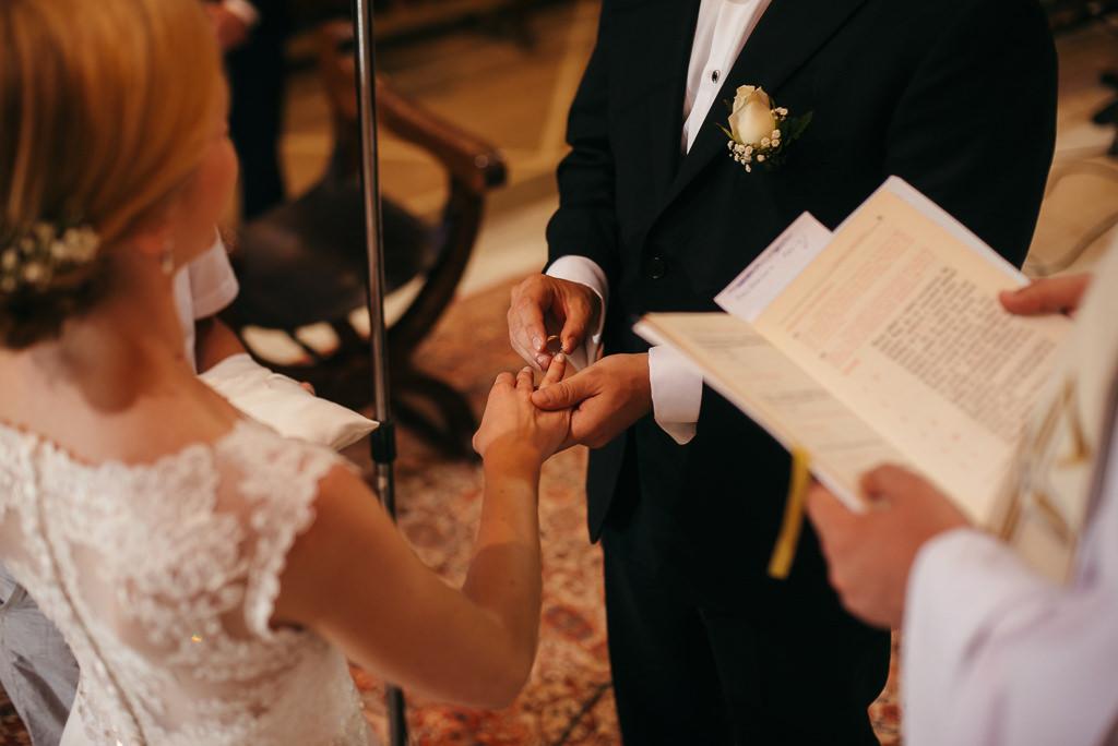 exchanging wedding rings church costa brava