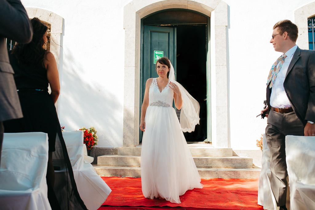 bride walking down the aisle wedding tossa de mar