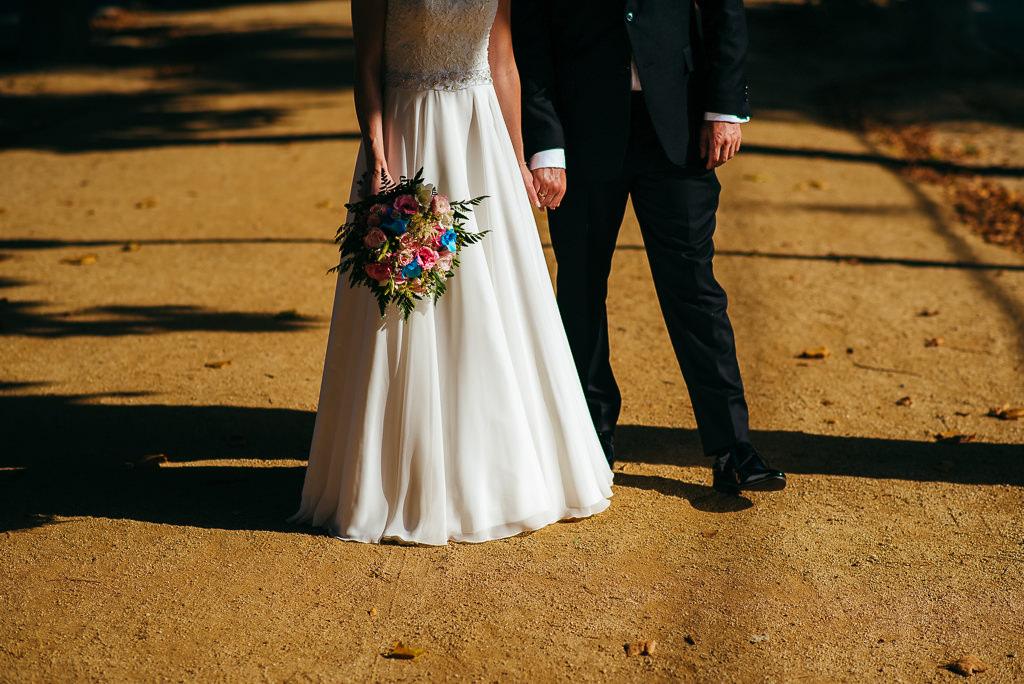 just married couple holding hands photo wedding costa brava