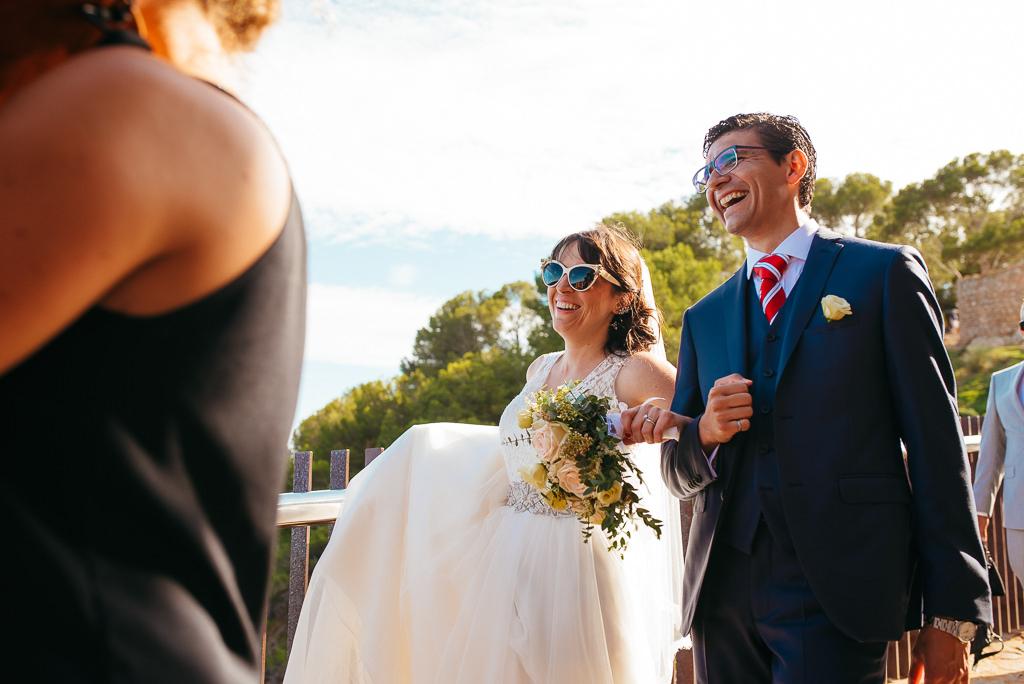 newly married couple weddin tossa de mar