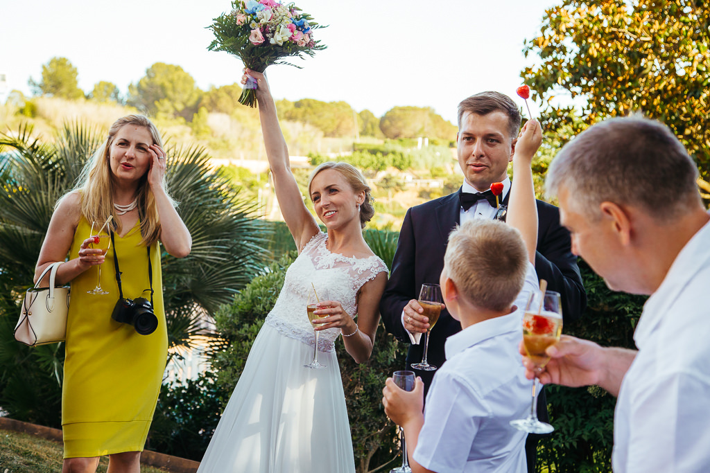 first cheers to the bride and groom wedding venue girona