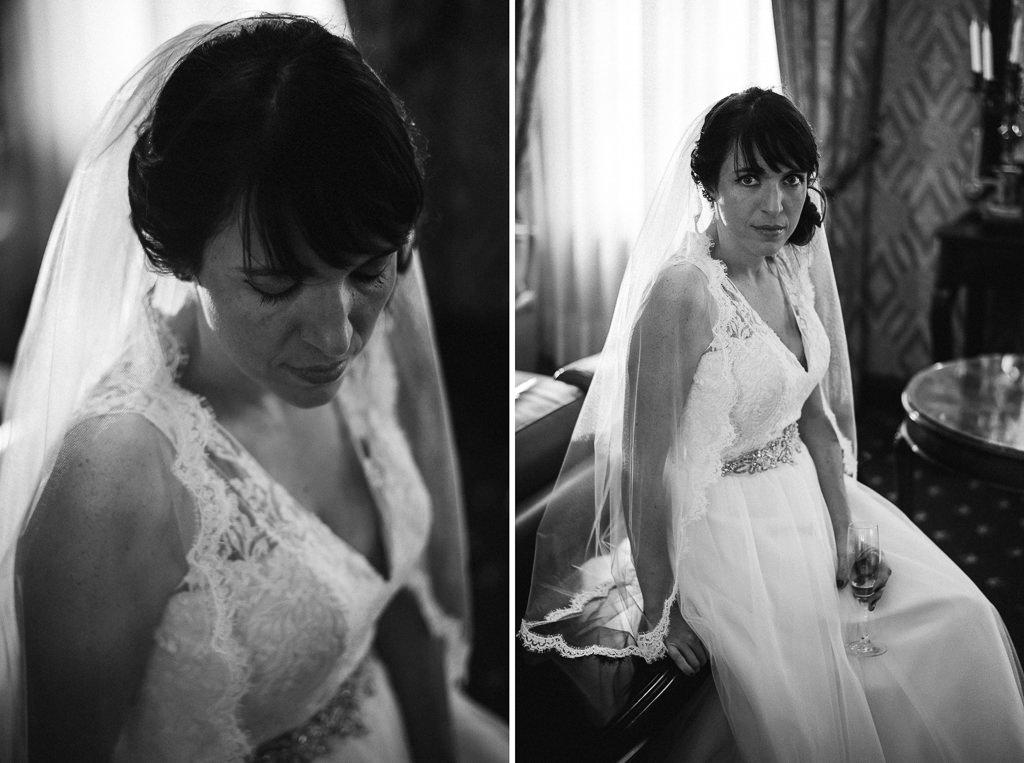 beautiful portrait of the bride wedding girona