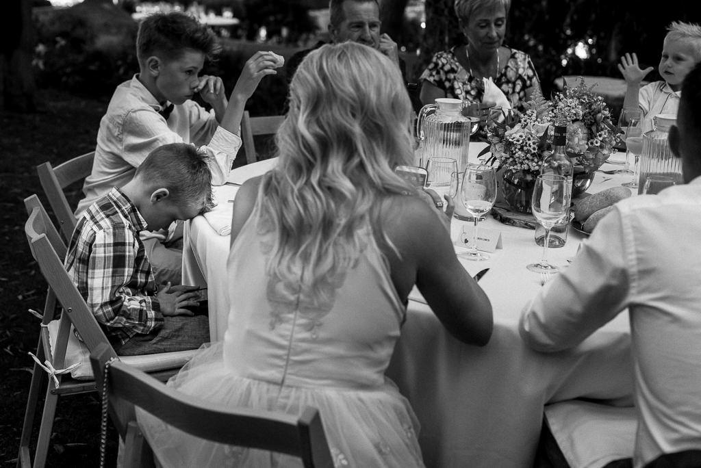 kids at wedding venue costa brava