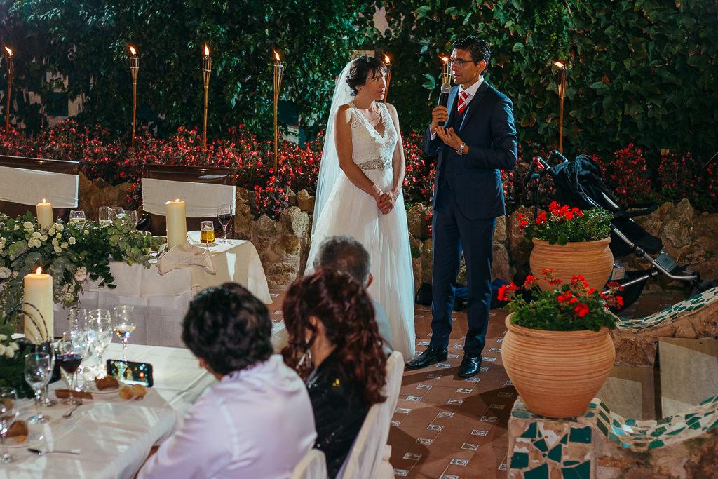 speech of the groom wedding reception girona tossa de mar