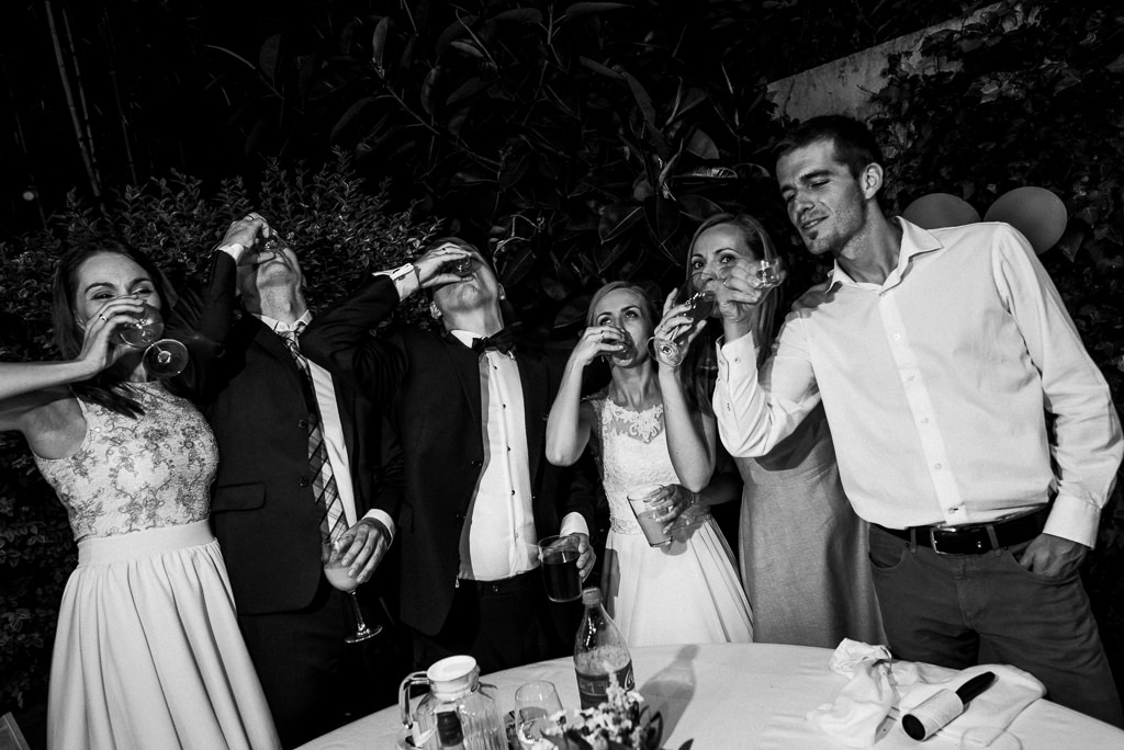 cheers to the bride and groom wedding venue costa brava