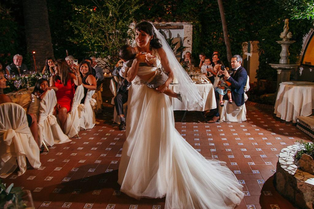 bride dancing with a baby wedding reception tossa de mar