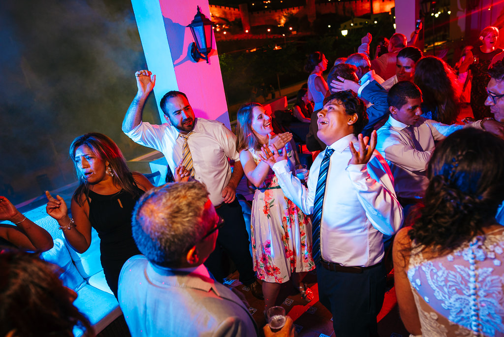 guests dancing at a wedding party costa brava