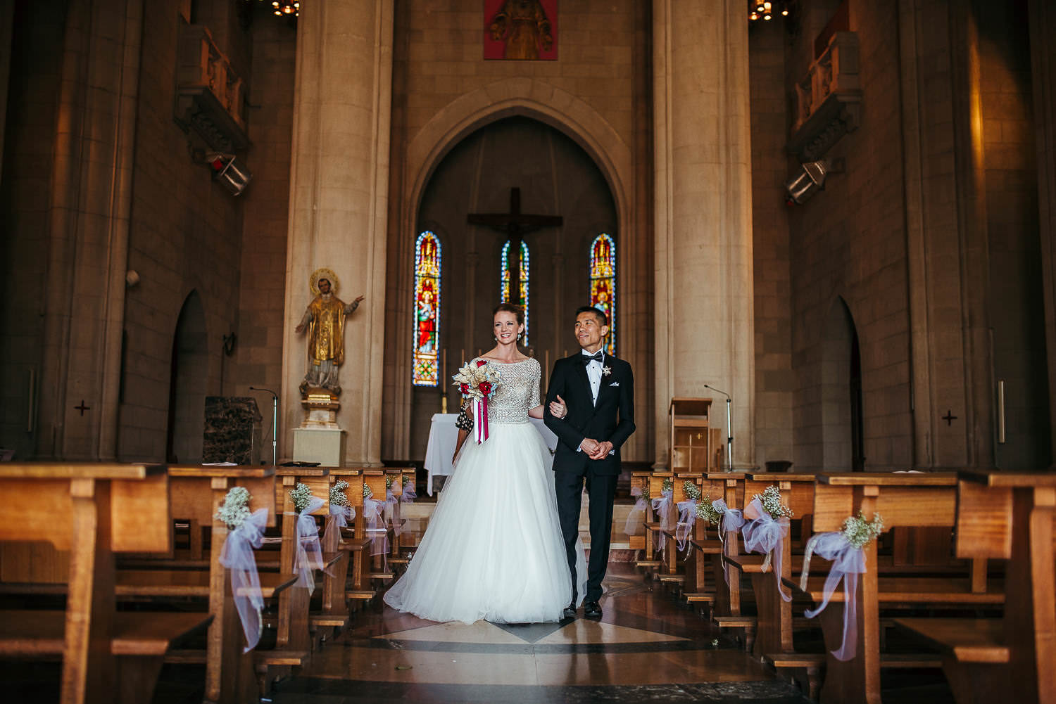 Barcelona wedding photographer wedding ceremony tibidabo church
