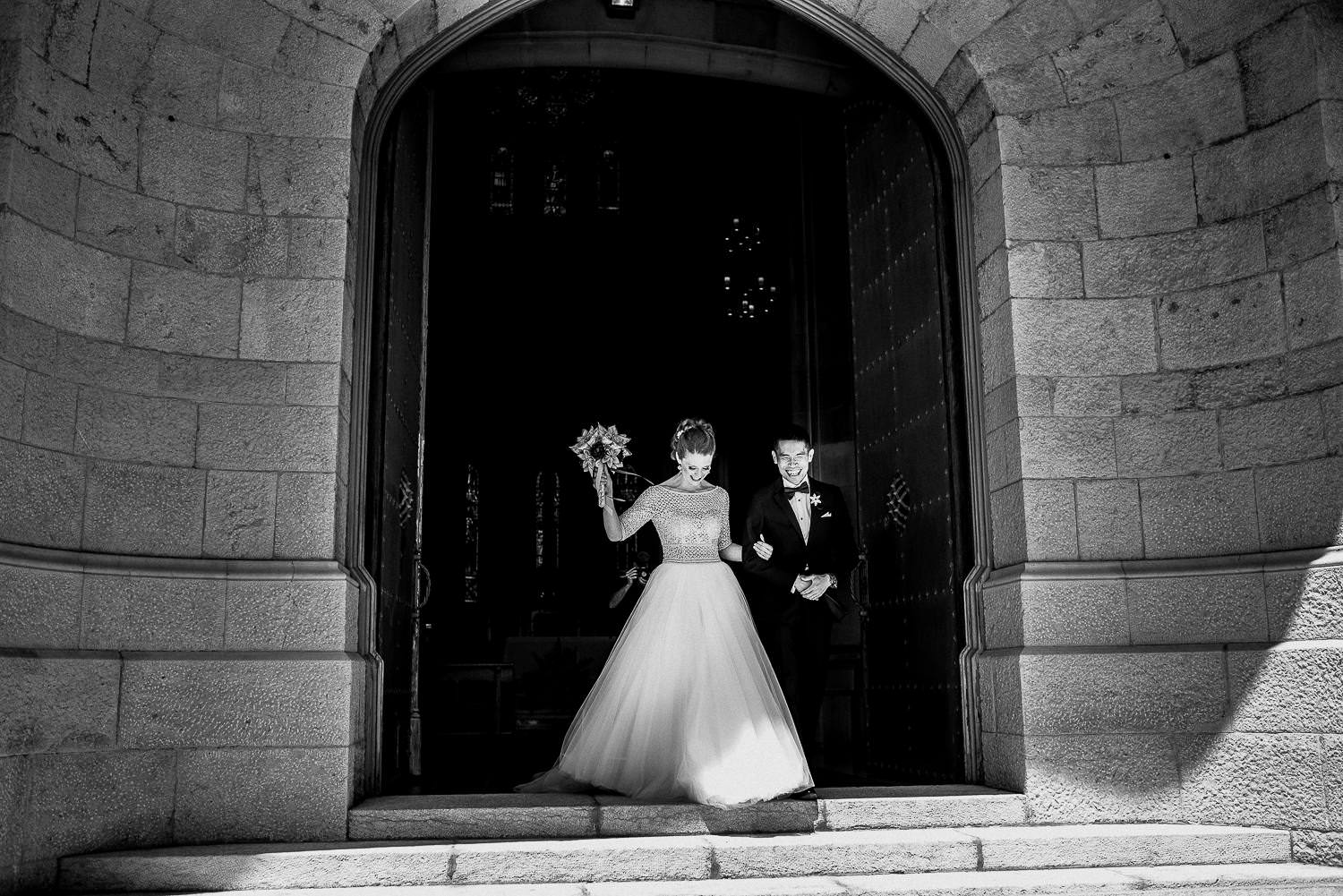 documentary wedding photographer barcelona wedding tibidabo church