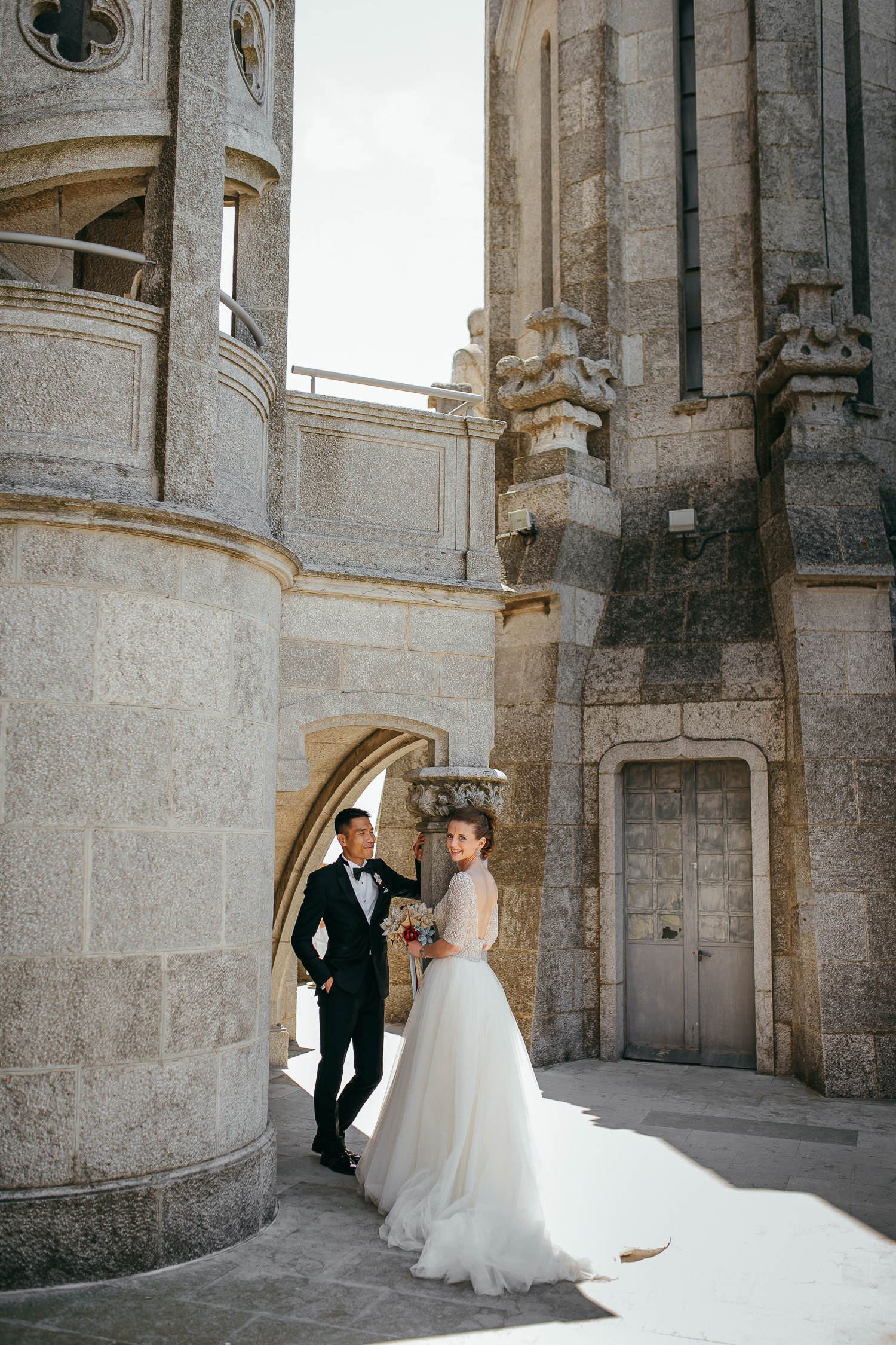 Barcelona documentary wedding photographer. Tibidabo wedding