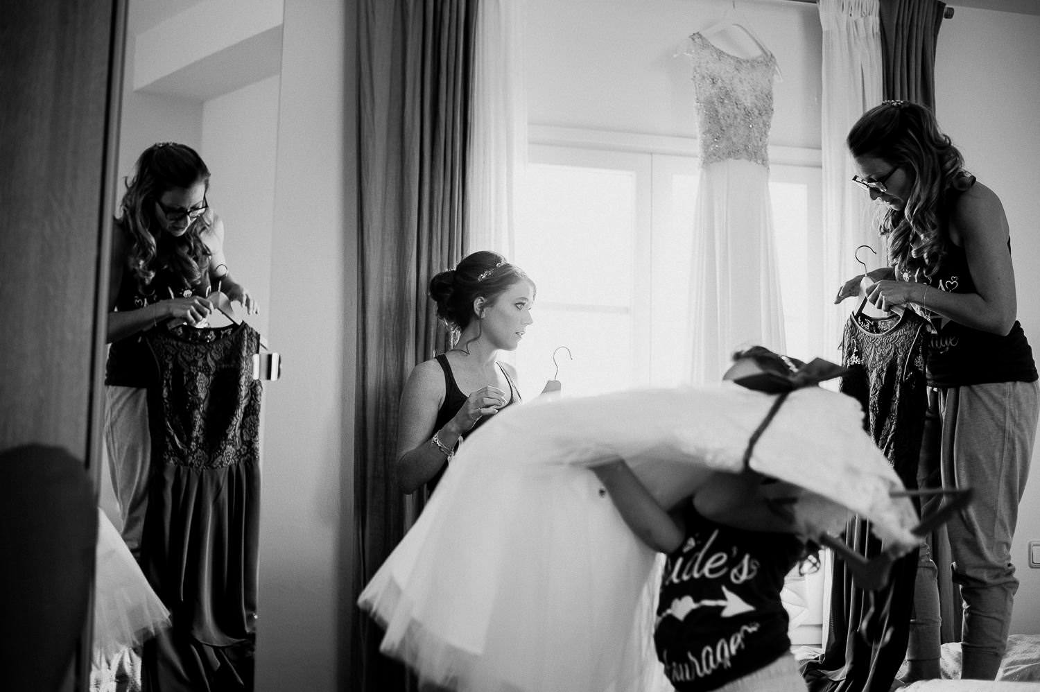 bride preparation for the wedding ceremony