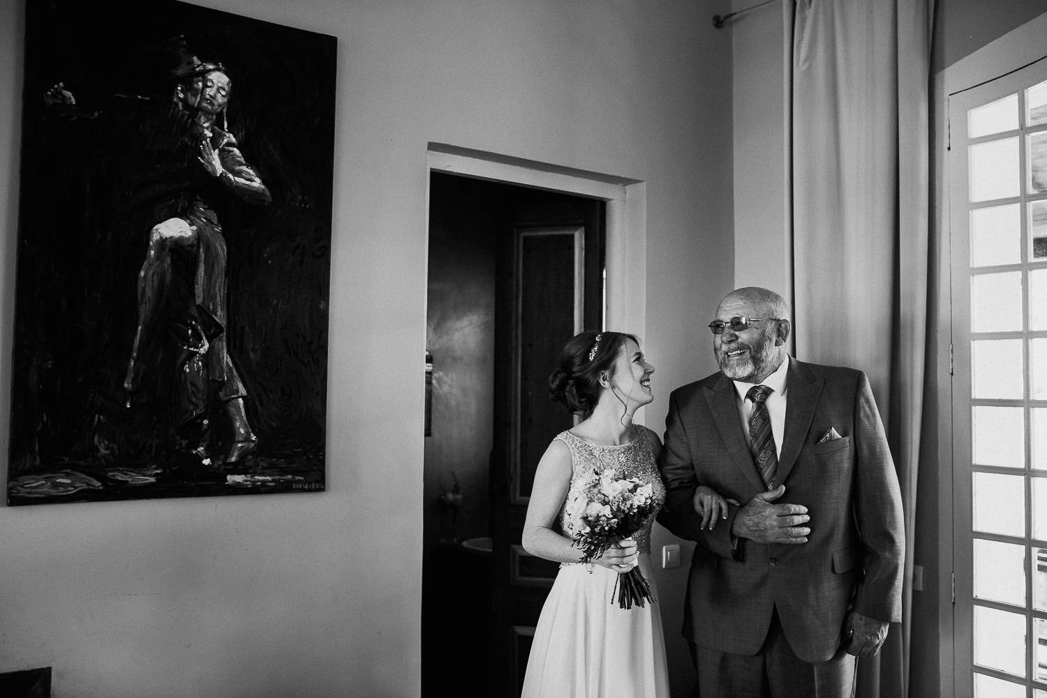 father bride documentary wedding photography barcelona