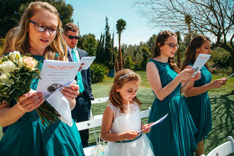 bride's maids singing wedding vila casanova
