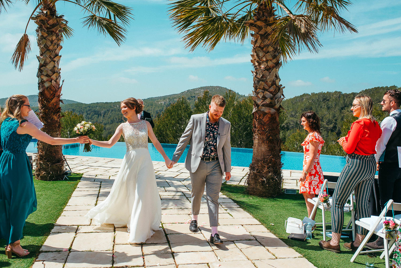 just married couple in vila casanova sitges
