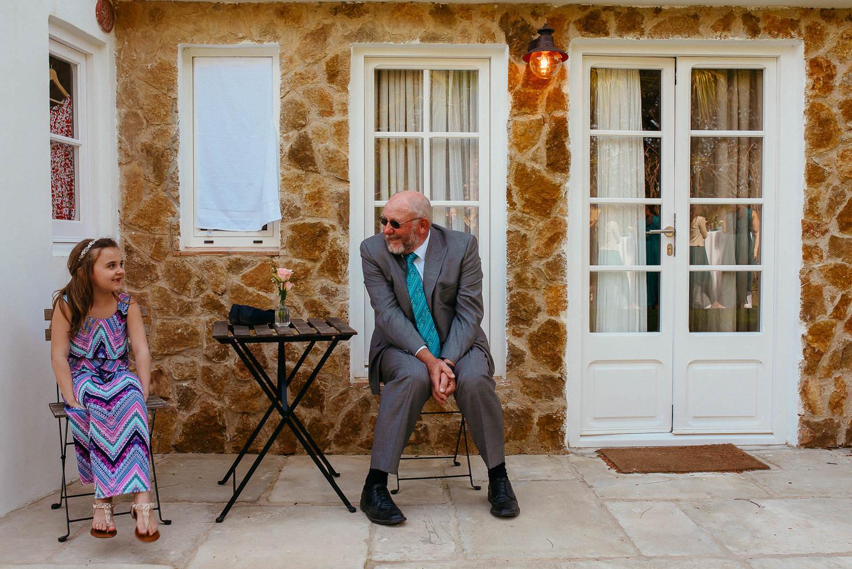 kid and grandad cute wedding moment