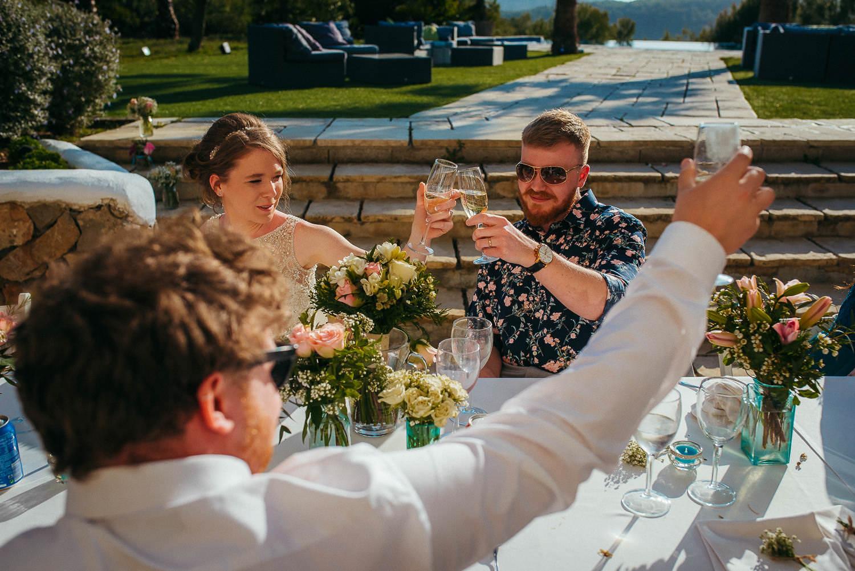a toast for the newly married vila casanova sitges