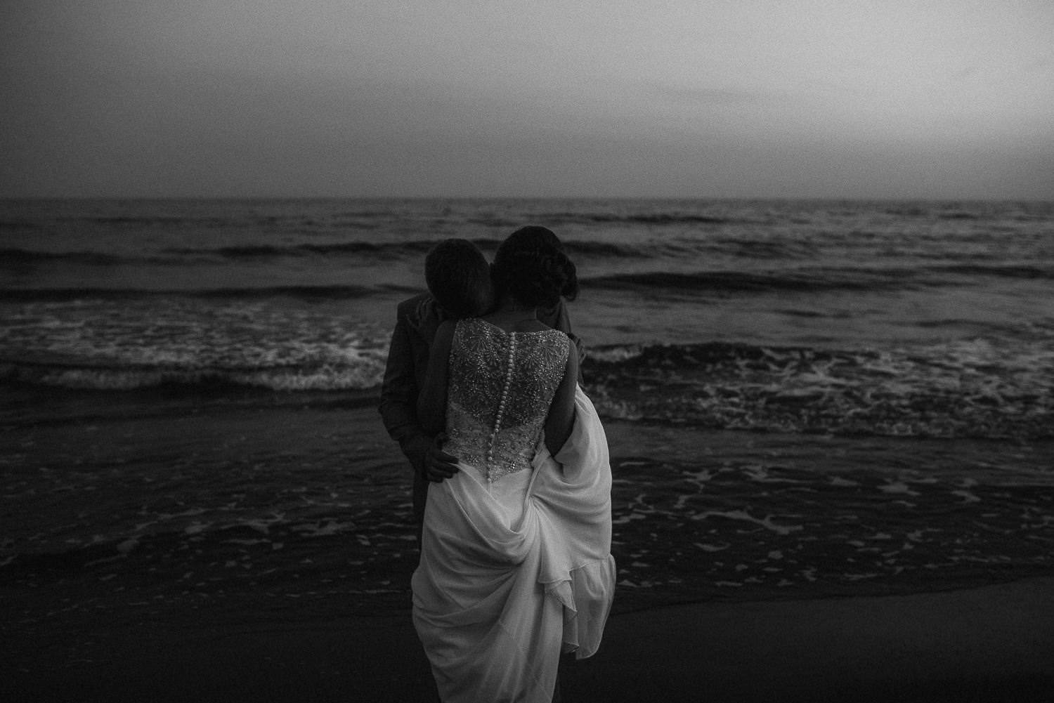 beautiful photo wedding sitges by the beach