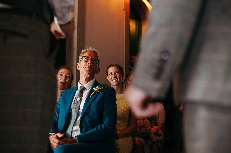 father of the bride at the ceremony wedding tossa de mar