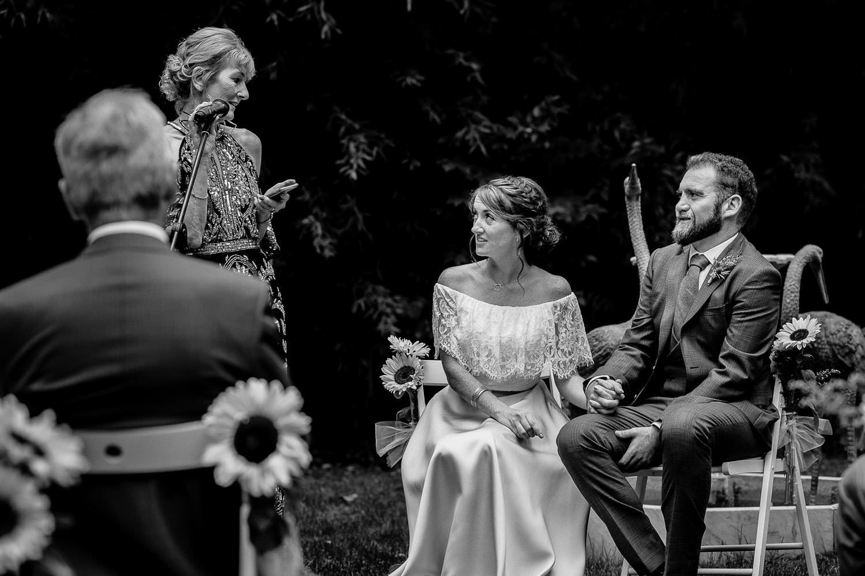 Beautiful Celtic wedding ceremony at Villa Catalina, Sitges