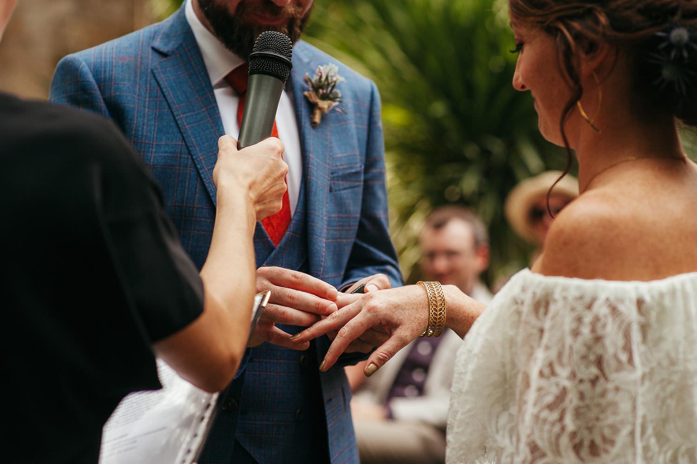 Exchanging wedding rings, Sitges wedding photographer