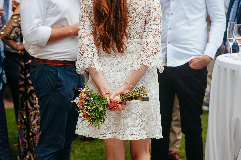 Bridesmaid bouquet, wedding sitges, costa dorada