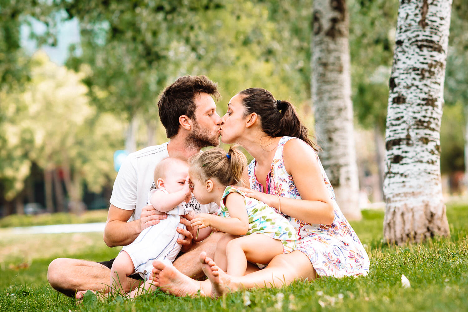 family portrait in the park