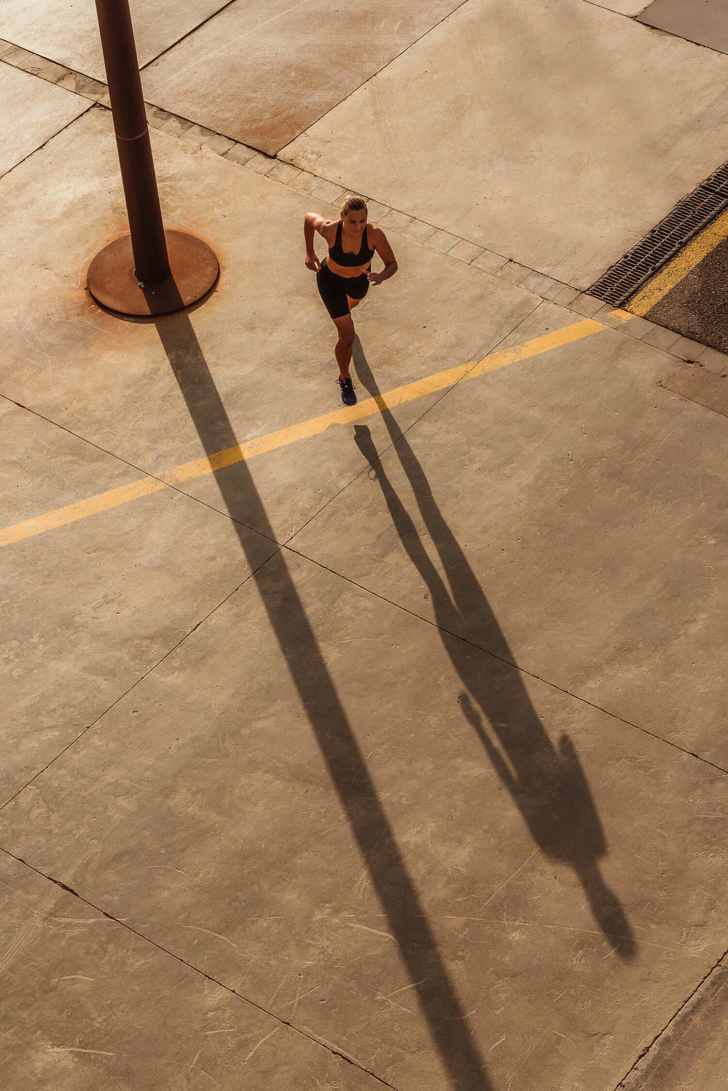 fitness model jogging