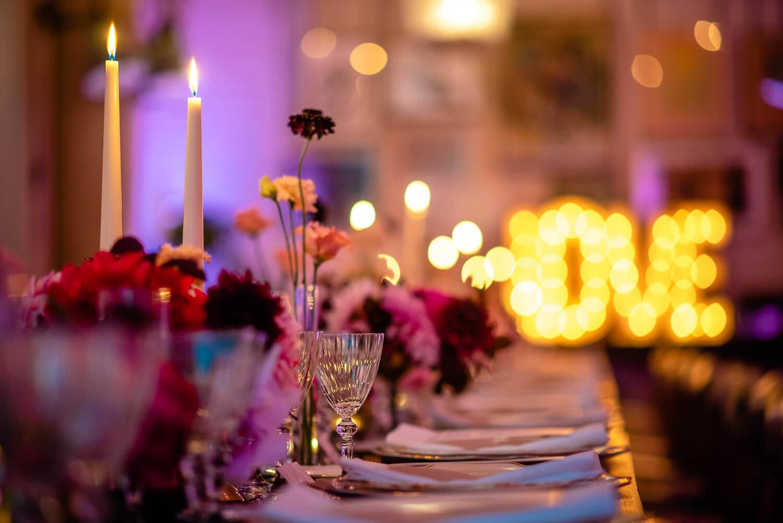 wedding dinner decoration at Soho House Barcelona