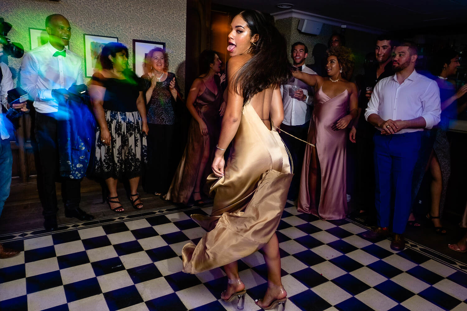 guest dancing during wedding party at soho house barcelona